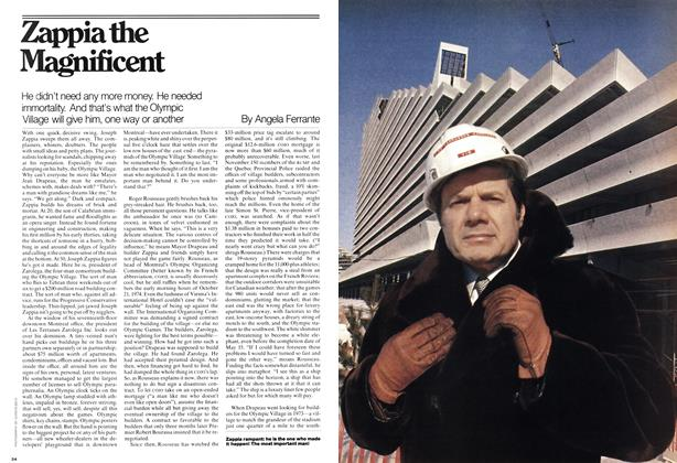 Article Preview: He didn't need any more money. He needed immortality. And that's what the Olympic Village will give him, one way or another, April 1976 | Maclean's