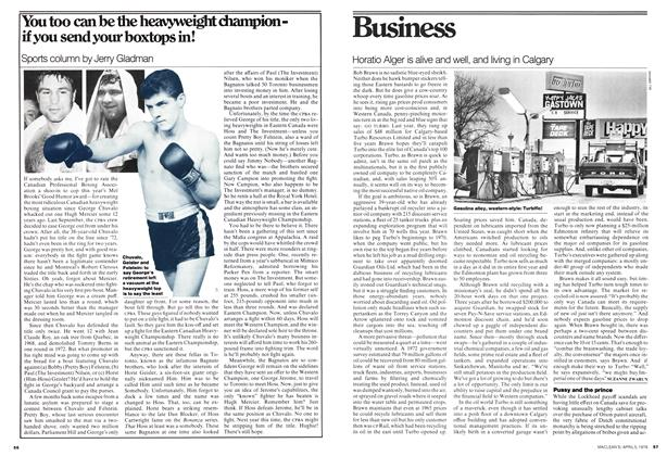 Article Preview: Pussy and the prince, April 1976 | Maclean's