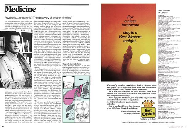 Article Preview: Psychotic... or psychic? The discovery of another 'fine line', April 1976 | Maclean's