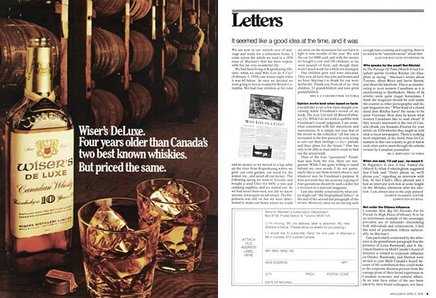 Article Preview: It seemed like a good Idea at the time, and it was, April 1976 | Maclean's