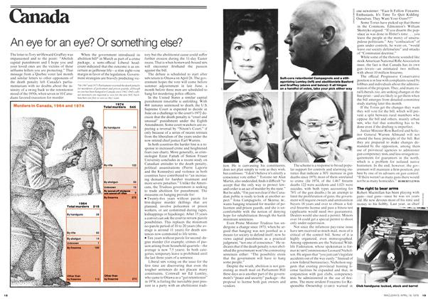 Article Preview: An eye for an eye? Or something else?, April 1976 | Maclean's
