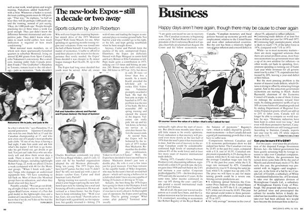 Article Preview: The new-look Expos - still a decade or two away, April 1976 | Maclean's