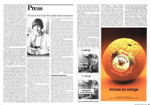 Article Preview: Postpartum depression, April 1976 | Maclean's