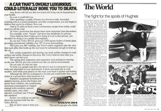 Article Preview: The fight for the spoils of Hughes, May 1976 | Maclean's