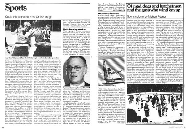 Article Preview: Of mad dogs and hatchetmen and the guys who wind'em up, May 1976 | Maclean's