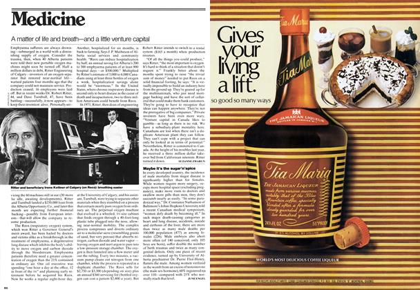 Article Preview: A matter of life and breath—and a little venture capital, May 1976 | Maclean's