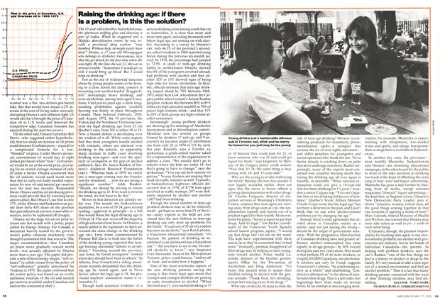 Article Preview: Raising the drinking age: if there is a problem, is this the solution?, May 1976 | Maclean's