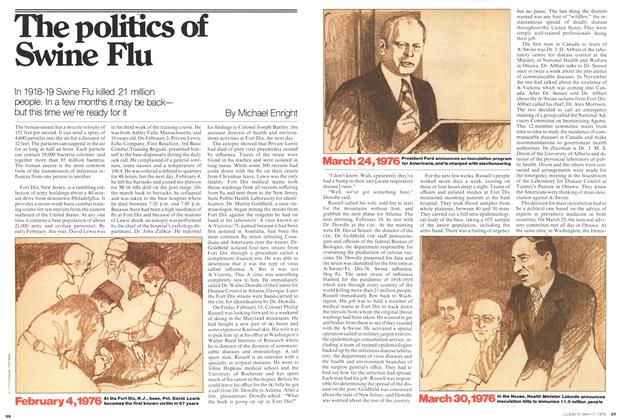Article Preview: The politics of Swine Flu, May 1976 | Maclean's