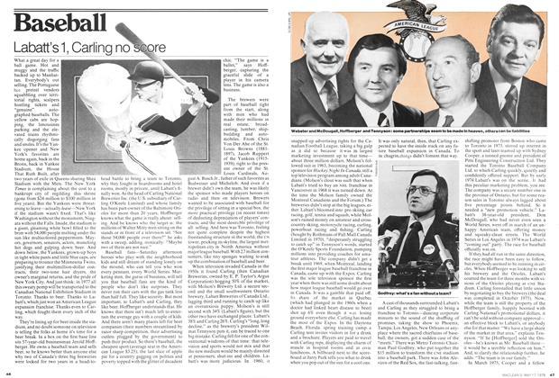 Article Preview: Labatt's 1, Carling no score, May 1976   Maclean's