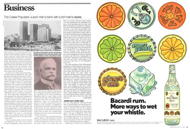 Article Preview: The Caisse Populaire: a poor man's bank with a rich man's assets, May 1976 | Maclean's