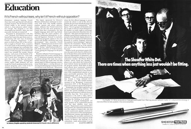 Article Preview: If it's French-without-tears, why isn't it French-without-opposition?, May 1976 | Maclean's