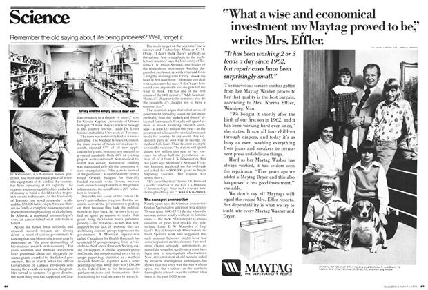 Article Preview: Remember the old saying about life being priceless? Well, forget it, May 1976 | Maclean's