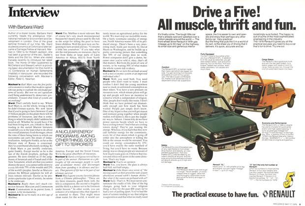Article Preview: With Barbara Ward, May 1976 | Maclean's