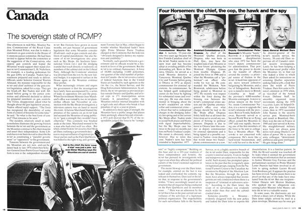 Article Preview: The sovereign state of RCMP?, May 1976 | Maclean's