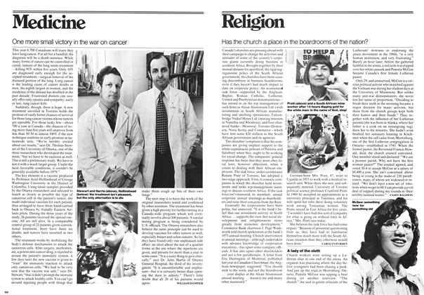 Article Preview: One more small victory in the war on cancer, May 1976 | Maclean's