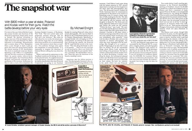 Article Preview: The snapshot war, June 1976 | Maclean's