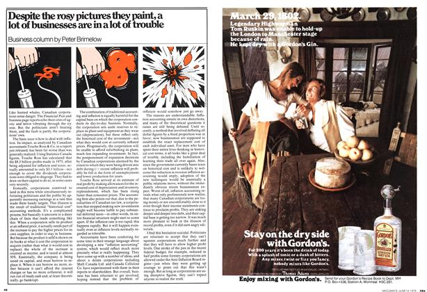 Article Preview: Despite the rosy pictures they paint, a lot of businesses are in a lot of trouble, June 1976 | Maclean's
