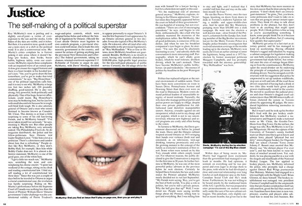 Article Preview: The self-making of a political superstar, June 1976 | Maclean's