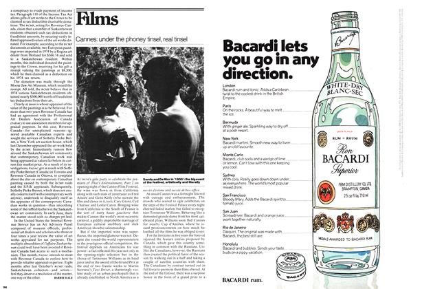 Article Preview: Cannes: under the phoney tinsel, real tinsel, June 1976 | Maclean's