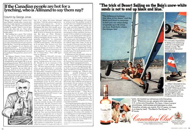 Article Preview: If the Canadian people are hot for a lynching, who is Allmand to say them nay?, June 1976 | Maclean's
