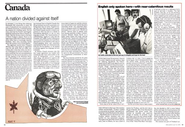 Article Preview: A nation divided against itself, July 1976 | Maclean's
