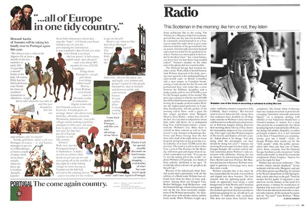 Article Preview: This Scotsman in the morning: like him or not, they listen, July 1976 | Maclean's