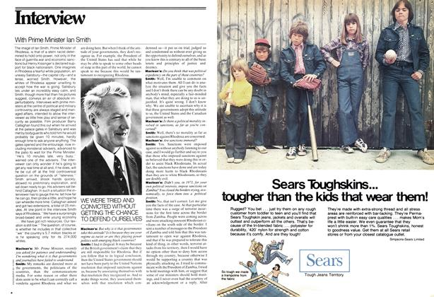 Article Preview: With Prime Minister Ian Smith, July 1976 | Maclean's