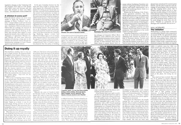 Article Preview: Doing it up royally, August 1976 | Maclean's