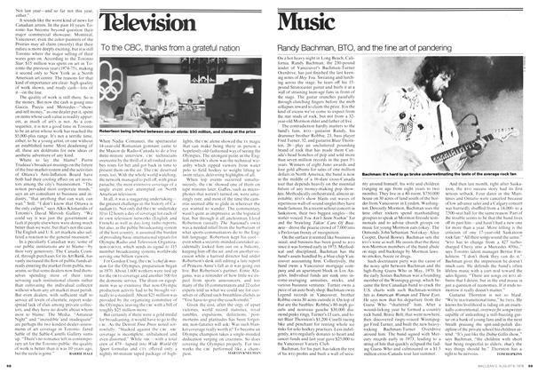 Article Preview: Randy Bachman, BTO, and the fine art of pandering, August 1976 | Maclean's