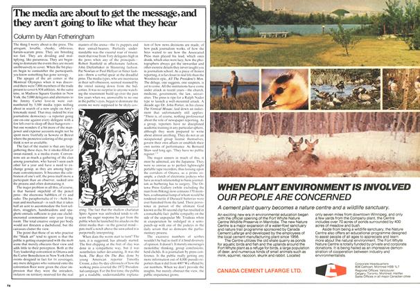 Article Preview: The media are about to get the message, and they aren't going to like what they hear, August 1976 | Maclean's