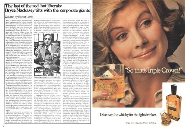Article Preview: The last of the red-hot liberals: Bryce Mackasey tilts with the corporate giants, August 1976 | Maclean's