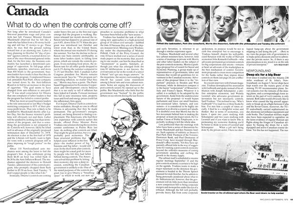 Article Preview: What to do when the controls come off?, September 1976 | Maclean's
