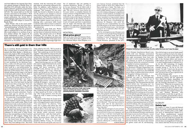 Article Preview: There's still gold in them thar hills, September 1976 | Maclean's