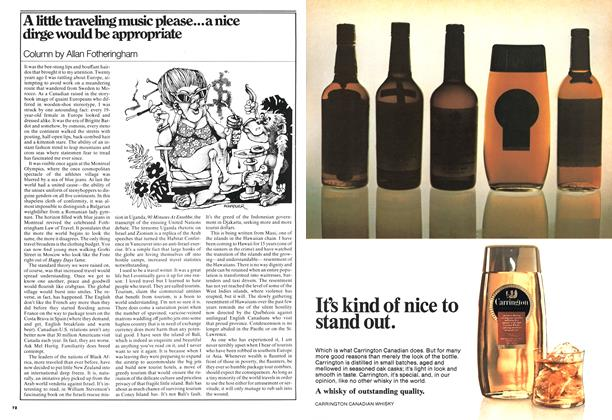 Article Preview: A little traveling music please...a nice dirge would be appropriate, September 1976 | Maclean's