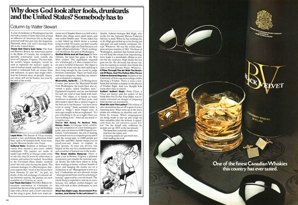 Article Preview: Why does God look after fools, drunkards and the United States? Somebody has to, September 1976 | Maclean's