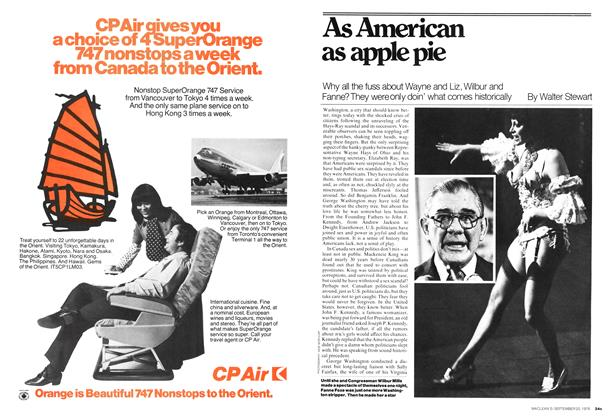 Article Preview: As American as apple pie, September 1976 | Maclean's