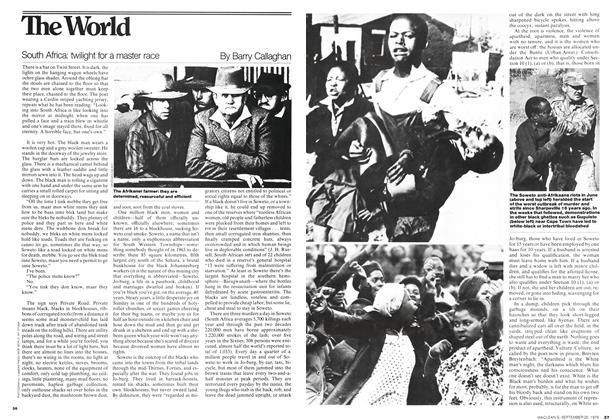 Article Preview: South Africa: twilight for a master race, September 1976 | Maclean's