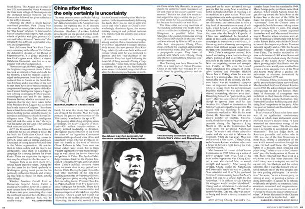 Article Preview: China after Mao: the only certainty is uncertainty, September 1976 | Maclean's