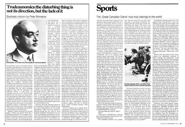 Article Preview: The 'Great Canadian Game' now truly belongs to the world, September 1976 | Maclean's