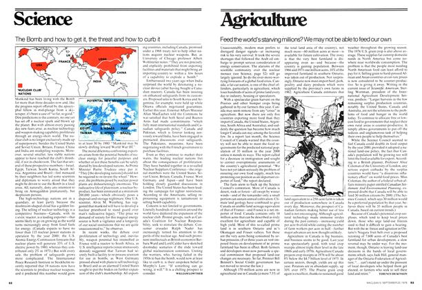 Article Preview: Feed the world's starving millions? We may not be able to feed our own, September 1976 | Maclean's