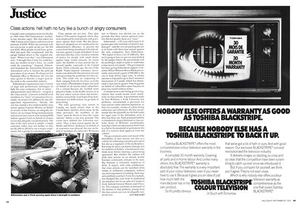 Article Preview: Class actions: hell hath no fury like a bunch of angry consumers, September 1976 | Maclean's
