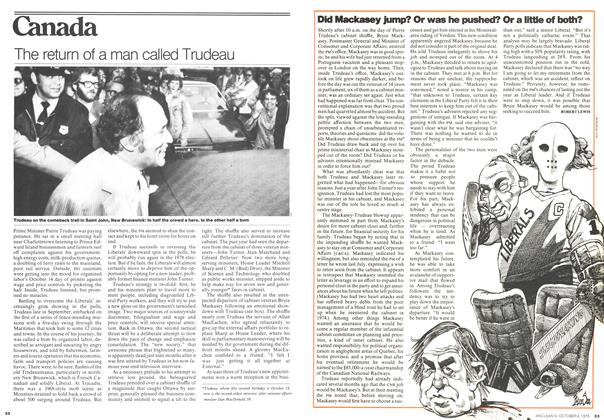 Article Preview: The return of a man called Trudeau, October 1976 | Maclean's