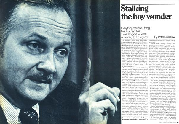 Article Preview: Stalking the boy wonder, October 1976 | Maclean's