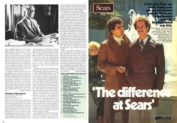 Article Preview: Friends in high places, October 1976 | Maclean's