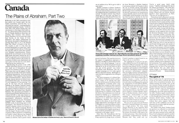 Article Preview: The Plains of Abraham, Part Two, October 1976 | Maclean's