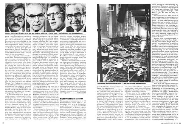 Article Preview: Riot in Cell Block Canada, October 1976 | Maclean's