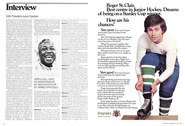 Article Preview: Interview, October 1976 | Maclean's