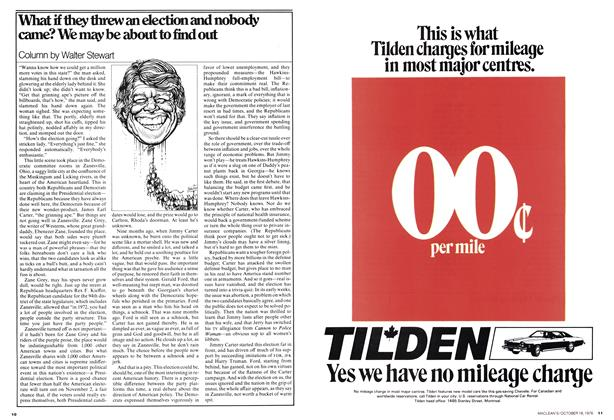 Article Preview: What if they threw an election and nobody came? We may be about to find out, October 1976 | Maclean's