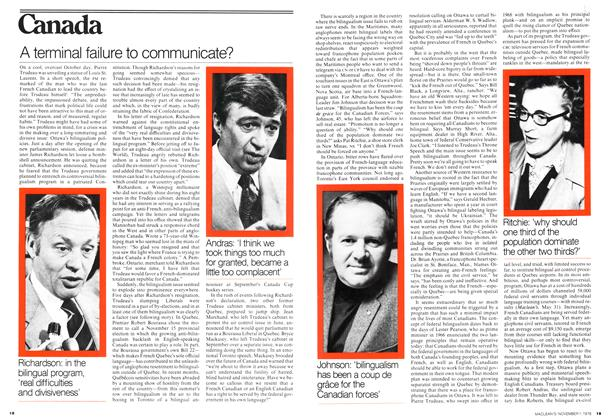Article Preview: A terminal failure to communicate?, November 1976   Maclean's
