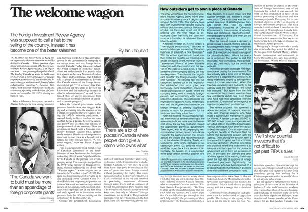 Article Preview: The welcome wagon, November 1976 | Maclean's